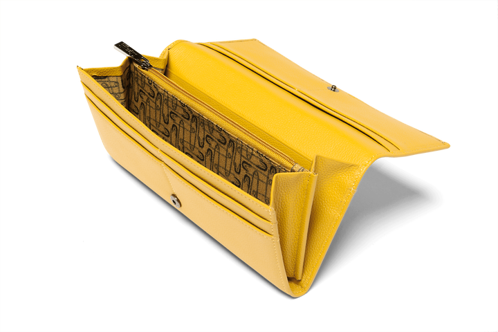 Plume Elegance Geldbörse Mustard | 2