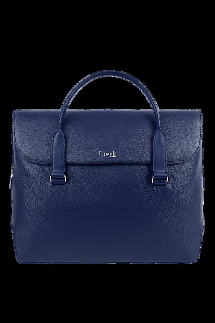 Plume Elegance Laptop Handtasche Navy   1