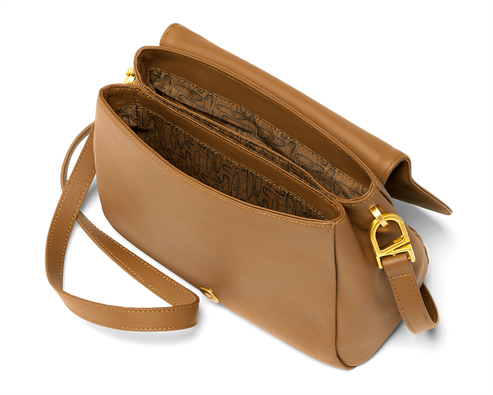 Plume Elegance Crossover Bag Cognac | 2