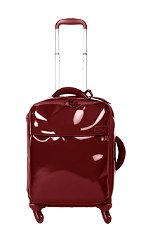 Lipault Plume Vinyle Cabin Luggage 4 Wheels 55cm Ruby